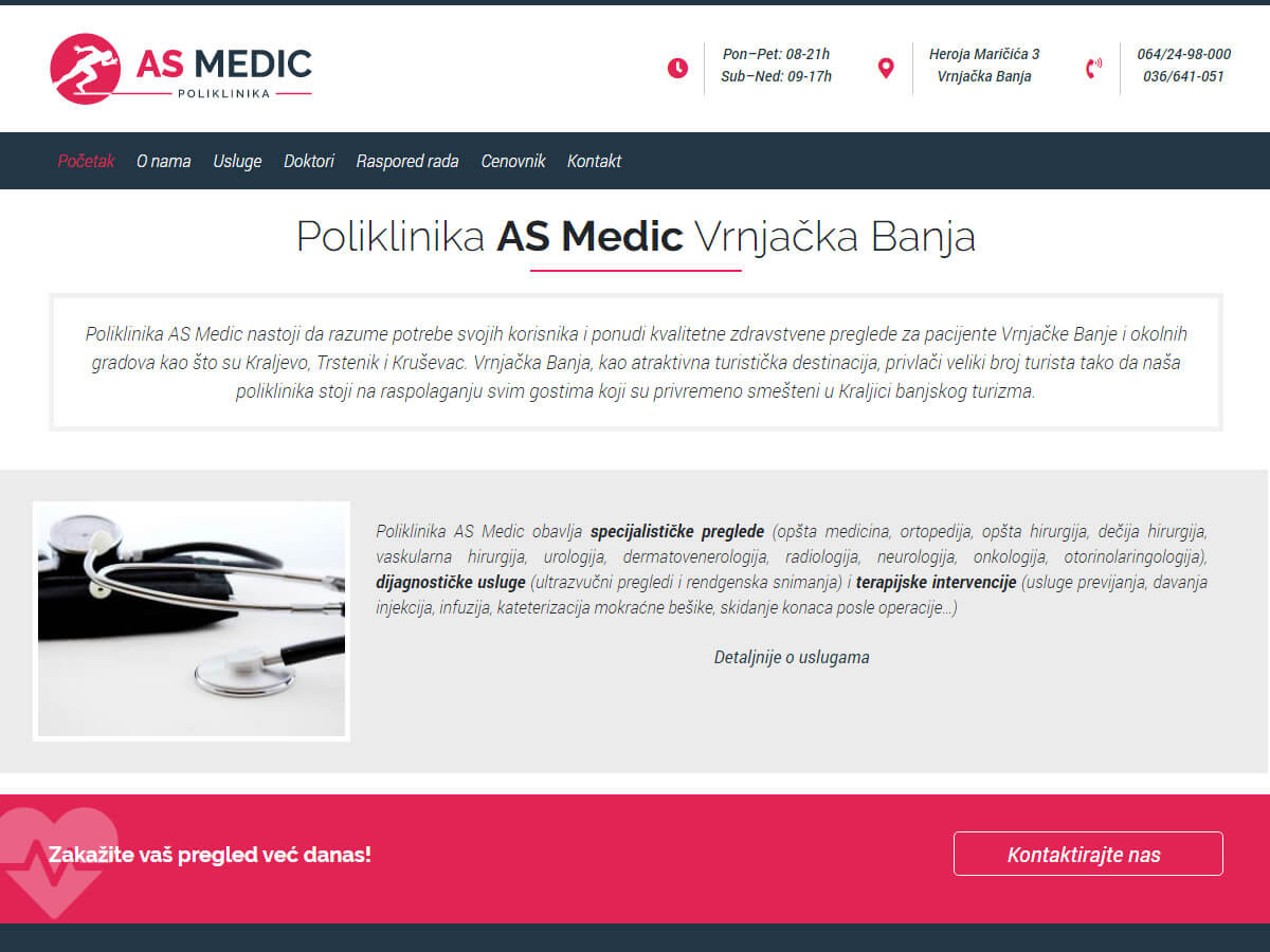 Web design za AS Medic