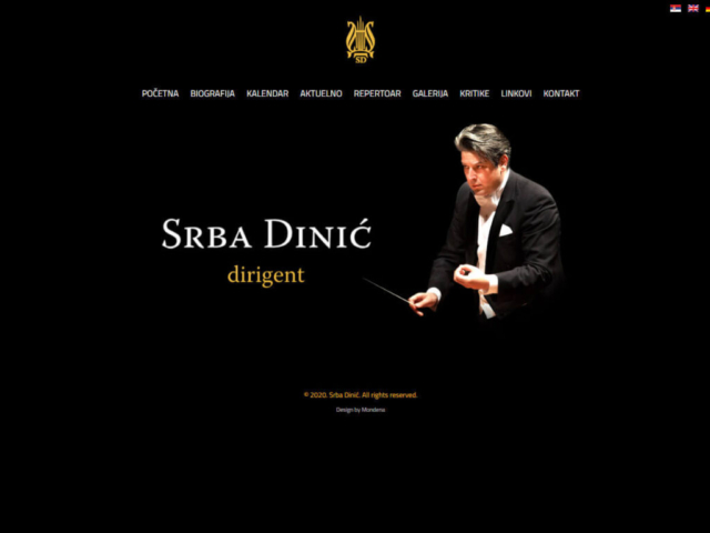 Web design za kompozitora Srbu Dinića