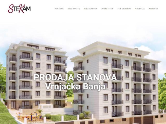 Web design za stambeni kompleks Vile Sofija i Andrea u Vrnjačkoj Banji